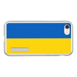 Flag of Ukraine Silver iPhone Case