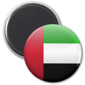 Flag of United Arab Emirates 2 Inch Round Magnet