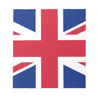Flag of United Kingdom. Notepad