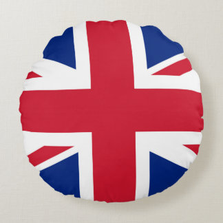 Flag of United Kingdom. Round Pillow