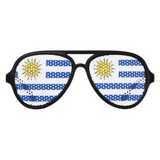 Flag of Uraguay Aviator Sunglasses