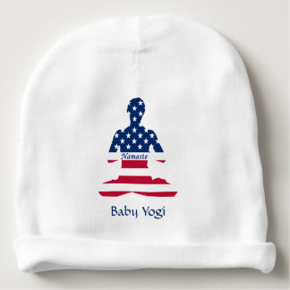 Flag of USA meditation American yoga Baby Beanie