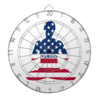 Flag of USA meditation American yoga Dartboard