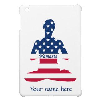 Flag of USA meditation American yoga iPad Mini Cover