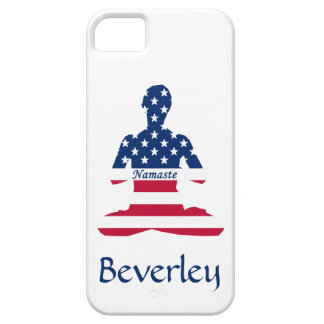 Flag of USA meditation American yoga iPhone 5 Case