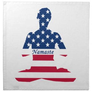 Flag of USA meditation American yoga Napkin