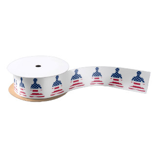 Flag of USA meditation American yoga Satin Ribbon