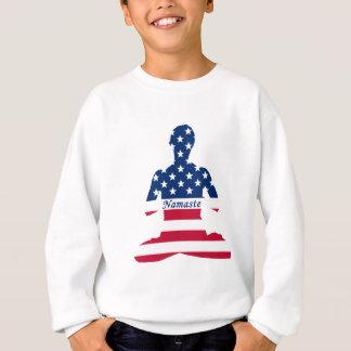 Flag of USA meditation American yoga Sweatshirt