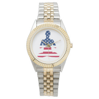 Flag of USA meditation American yoga Watch