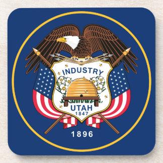 Flag Of Utah Coaster