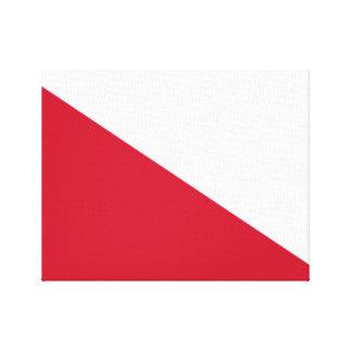 Flag of Utrecht (city) Canvas Print