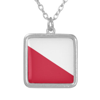 Flag of Utrecht (city) Silver Plated Necklace