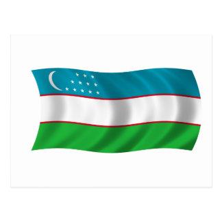 Flag of Uzbekistan Postcard