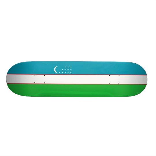 Flag of Uzbekistan Skateboard Deck