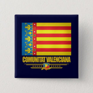 Flag of Valencia 2 Inch Square Button