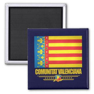 Flag of Valencia Square Magnet