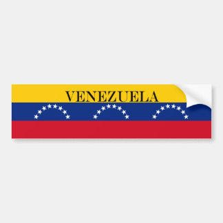 Flag of Venezuela Bumper Sticker