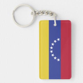 Flag of Venezuela Double-Sided Rectangular Acrylic Keychain