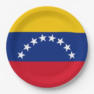 Flag of Venezuela Paper Plate