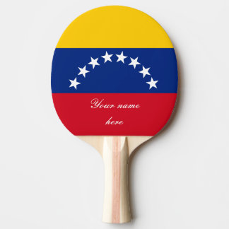 Flag of Venezuela Ping Pong Paddle