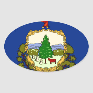 Flag Of Vermont Oval Sticker