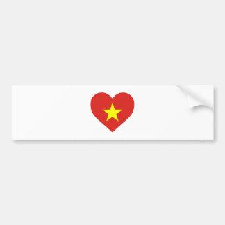 Flag of Vietnam - I Love Viet Nam - Cờ đỏ sao vàng Bumper Sticker