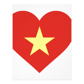 Flag of Vietnam - I Love Viet Nam - Cờ đỏ sao vàng Letterhead