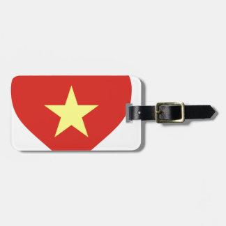 Flag of Vietnam - I Love Viet Nam - Cờ đỏ sao vàng Luggage Tag