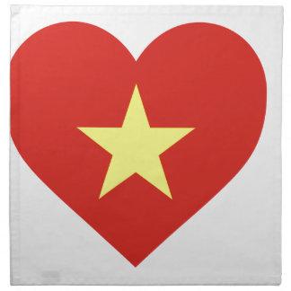 Flag of Vietnam - I Love Viet Nam - Cờ đỏ sao vàng Napkin