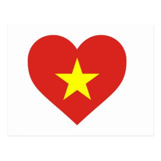 Flag of Vietnam - I Love Viet Nam - Cờ đỏ sao vàng Postcard