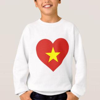 Flag of Vietnam - I Love Viet Nam - Cờ đỏ sao vàng Sweatshirt