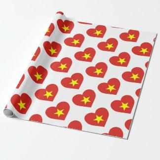Flag of Vietnam - I Love Viet Nam - Cờ đỏ sao vàng Wrapping Paper