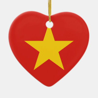 Flag of Vietnam - Quốc kỳ Việt Nam Ceramic Heart Ornament