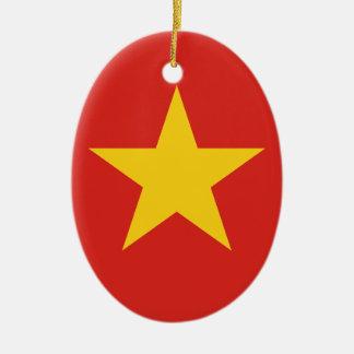 Flag of Vietnam - Quốc kỳ Việt Nam Ceramic Oval Ornament