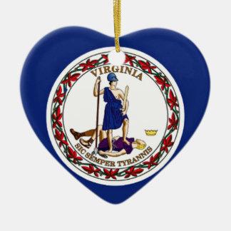 Flag Of Virginia Ceramic Ornament