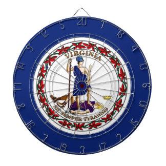 Flag Of Virginia Dartboard