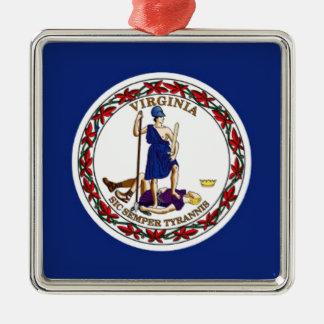 Flag Of Virginia Metal Ornament