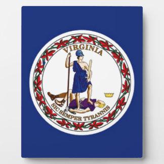 Flag Of Virginia Plaque