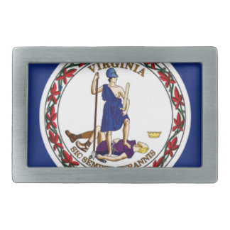 Flag Of Virginia Rectangular Belt Buckle