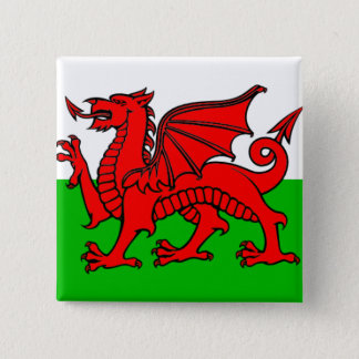 Flag of Wales 2 Inch Square Button