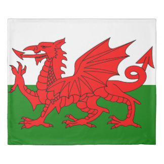 Flag of Wales King Duvet Cover