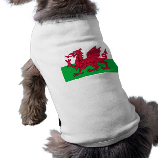 Flag of Wales - The Red Dragon - Baner Cymru Doggie T Shirt