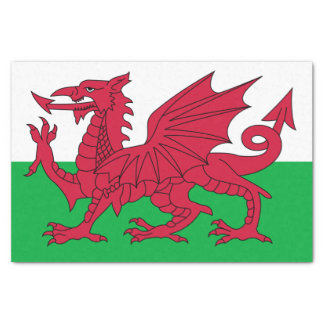 Flag of Wales Tissue Paper