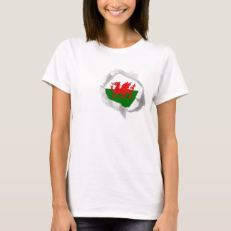 Flag of Wales True Colors Welsh Pride Torn T-Shirt