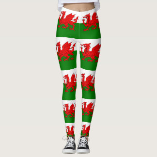 Flag of Wales Welsh Baner Cymru Leggings