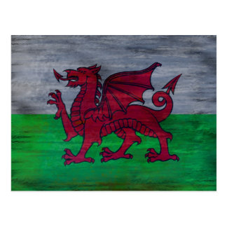 Flag of Wales - Welsh Flag - Personalise Postcard