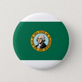 Flag Of Washington 2 Inch Round Button