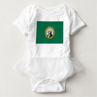 Flag Of Washington Baby Bodysuit
