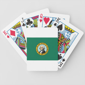 Flag Of Washington Bicycle Playing Cards