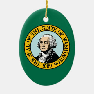 Flag Of Washington Ceramic Ornament